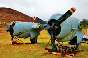 Whilst hiking you can see old airplanes.