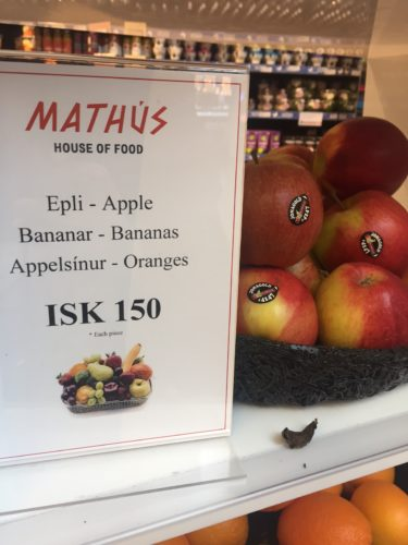 Fruit at Keflavík airport.